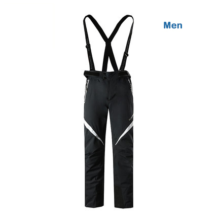 ROYALWAY Men Skiing Pants Ski Snowboarding High Quality Bib Pants Windproof Breathable Waterproof Trousers 2017 New#RFJL4518G 40 man snow pants professional snowboarding pants waterproof windproof breathable winter outdoor camouflage ski suit trousers