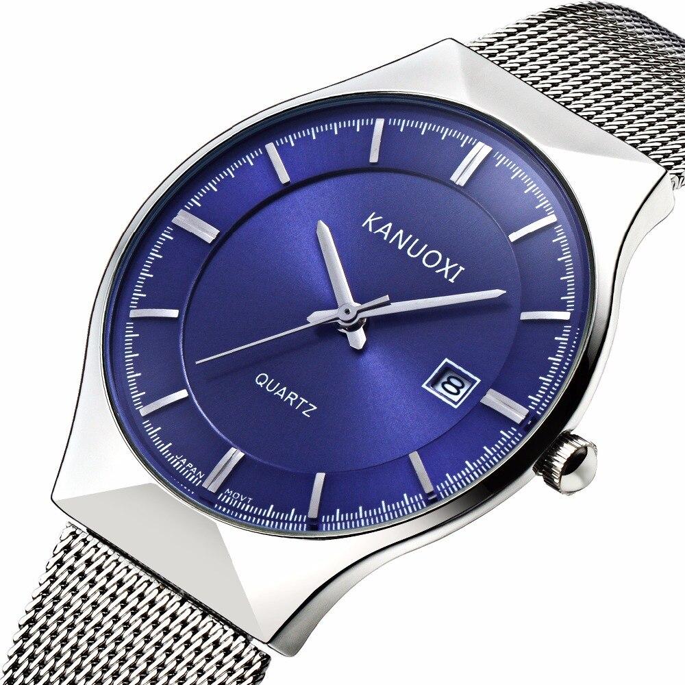 NEW Men Watches Top Brand Luxury50M Waterproof Ultra Thin Date Clock Male Steel Strap Casual Quartz