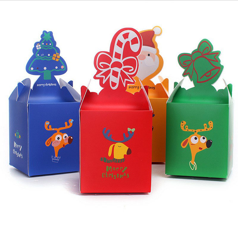 50pcs christmas box for gifts chocolate christmas for Application box decoration