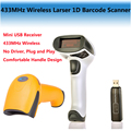 Free Shipping! 433MHz Wireless Laser 1D Barcode Scanner 4mil Long Range Cordless Bar Code Reader for POS and Inventory - NT-2028
