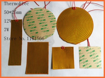 50*25mm 12V 7W Polyimide heating film electric heating PI heater/ heating flexible oil pan heat bed printer Industrial Heater цена 2017