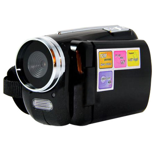 """12MP Mini Digital Video Camera DV Camcorder 1.8"""" TFT LCD 4xZoom TV out function Black"""