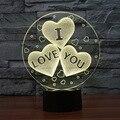 O Novo Eu TE AMO Colorido Visual 3D Luz Da Noite toque LED Gradiente Humor Lâmpada Do Feriado Do Natal Aniversário Dia Dos Namorados presente