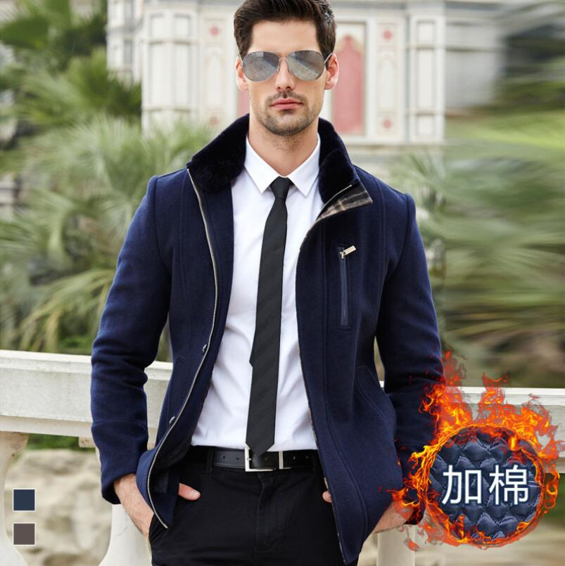 SIQILONG 2017 Autumn Trench New Men Winter Coat Long Wool Jacket Brand Good Quality Winter Wool & Blends
