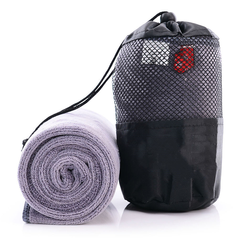 Gym Sport Fast Quick Drying Towel for Travel Camping Microfiber Cloth with Mesh Bag 6 styles 100x30cm