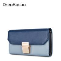 Dreabasaa Genuine Leather Wallets Designer Wallets Famous Brand Women Wallet Ladies Fashion Female Purse Short