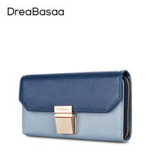 Dreabasaa Genuine Leather Wallets Designer Wallets Famous Brand Women Wallet Ladies fashion Female Purse Short