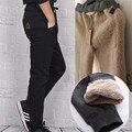 De alta Calidad Para Hombre Pantalones de Los Hombres pantalones de Chándal de Invierno térmica de Lana Negro/Gris Cachemira Pashm Gruesa Pantalones Calientes Hombres Pantalones de Algodón Pantalones M-4XL