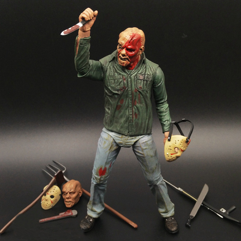 Movie A New Dimension in Terror a Review of Friday The 13TH Part3 3D Freddy Vs Jason Figure Freddy PVC Action Figures hot free shipping 10 square meter floor heating films thermostats clamps piler black tape insulating daub 0 5m 20m 220vac