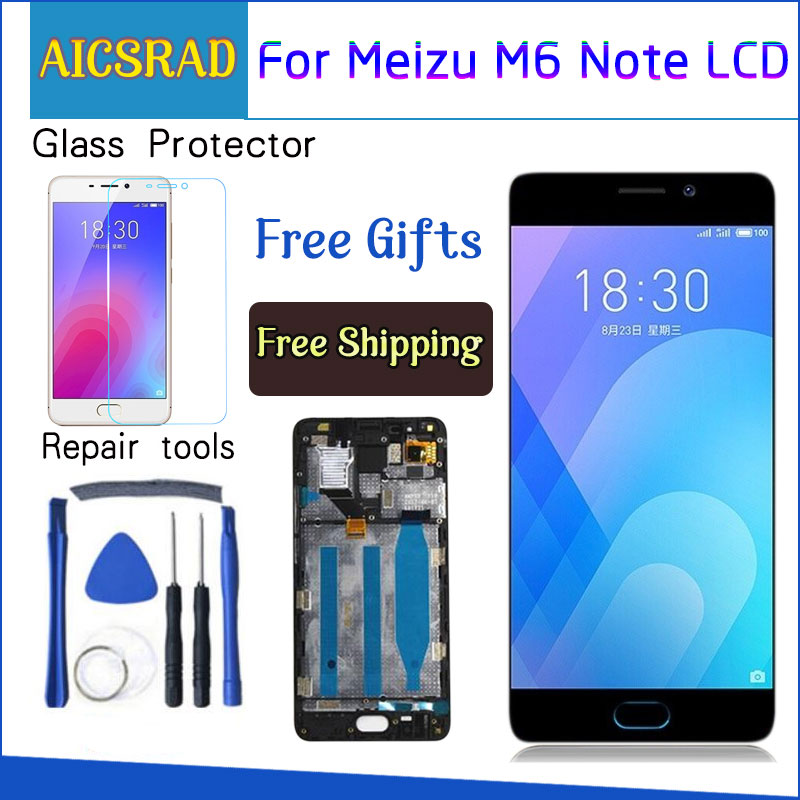 AICSRAD For Meizu M6 Note Touch Screen Digitizer + LCD Display For Meizu Note 6 5.5