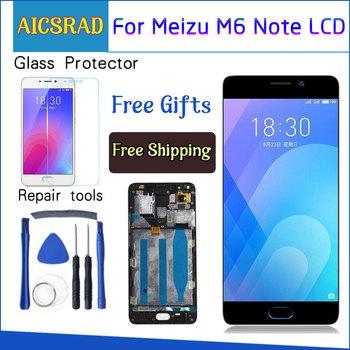 AICSRAD dla Meizu M6 uwaga ekran dotykowy Digitizer + wyświetlacz LCD dla Meizu Note 6 5 5 #8222 telefon czarny biały kolor tanie i dobre opinie NONE CN (pochodzenie) Pojemnościowy ekran 1920x1080 3 For M6 NOTE LCD LCD i ekran dotykowy Digitizer Black White China (mainland)