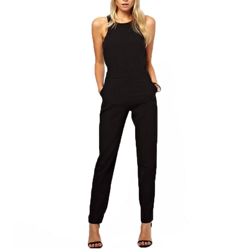New Zanzea Rompers Womens   Jumpsuit   2017 Summer Casual Solid Bodysuit Sleeveless Crew Neck Long Playsuits Overalls