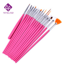 15pcs/set  4colors options Nail Brushes Professional Nail Art UV Gel Painting Drawing Liner Pens,DIY Design Nail Decoration Tool