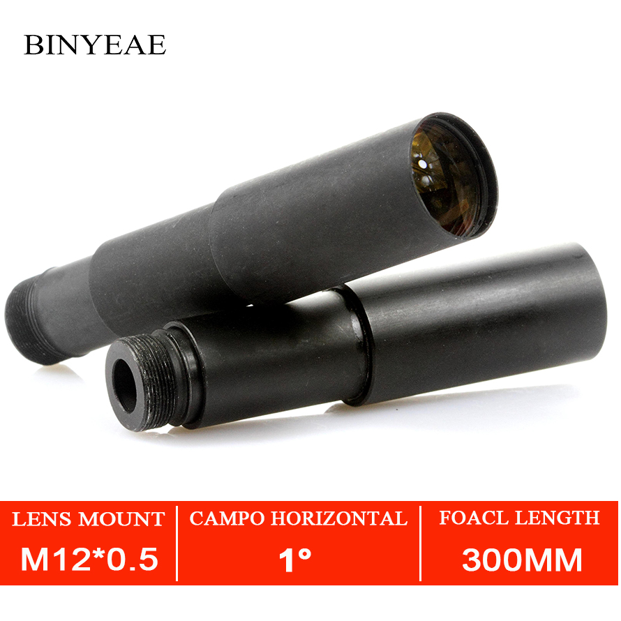 BINYEAE 300mm CCTV camera lens 1/3 Image Format Long Viewing Distance M12 Mount Horizontal View Angle 1.15D Manual FocusBINYEAE 300mm CCTV camera lens 1/3 Image Format Long Viewing Distance M12 Mount Horizontal View Angle 1.15D Manual Focus