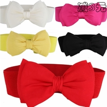 Women's fashion elastic skirt wide belt female all-match cummerbund bow decoration wide 059