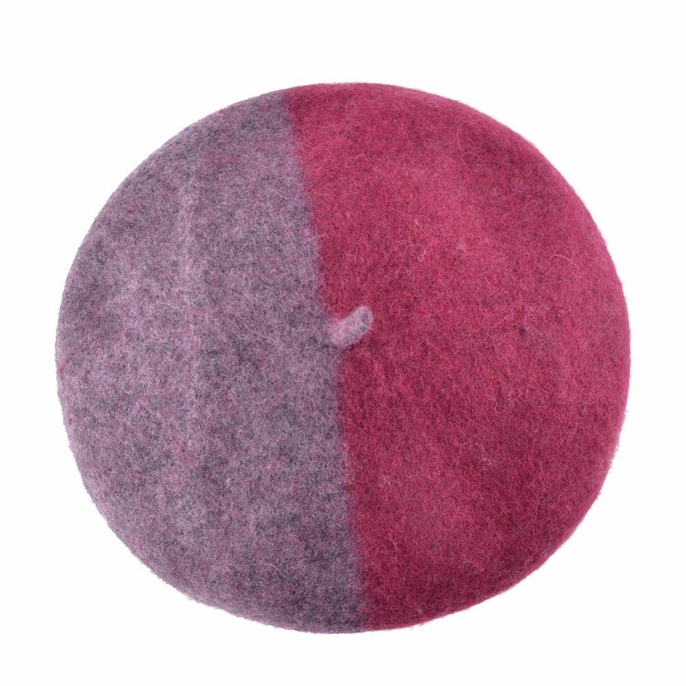 2019 Fashion Mixed Colors Hats For Women Winter Berets Woolen Fabric ... 4307fe867e8
