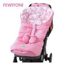 FEWIYONI спальный мешок для детской коляски, шерстяной спальный мешок для ног, детский конверт, утолщенный теплый спальный мешок