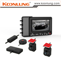 Koonlung K1S Car DVR with Dual Small Cameras Ambarella A7LA70 Chipset External GPS Module Car Recorder WDR LDWS with Cable Clip
