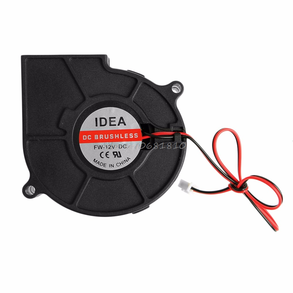 75mmx30mm DC 12V 0.24A 2-Pin Computer PC Sleeve-Bearing Blower Cooling Fan 7530 #R179T#Drop Shipping 50mmx15mm dc 12v 0 14a 2 pin computer pc sleeve bearing blower cooling fan 5015 r179t drop shipping