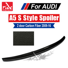For Audi A5 A5Q High-quality Carbon Rear Spoiler Tail S-Style Coupe Fiber Trunk Wing 2-Door 09-16