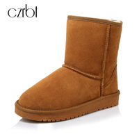 CZRBT High Quality Australia Boots Classic Women Snow Boots Cow Suede Ankle Boots Woman Winter 5