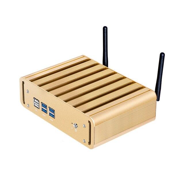 XCY мини-ПК Intel Core i3 4010U 5005U i5 4200U 5200U i7 5500U офисный компьютер HTPC Windows 10 Linux HDMI WiFi Gigabit Ethernet 2