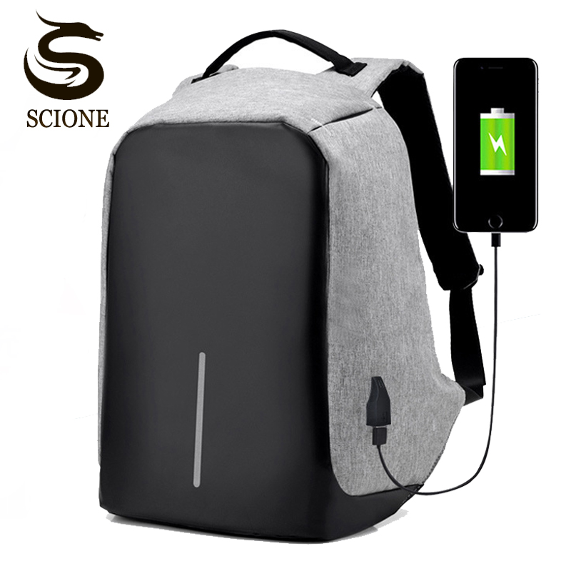 Multifunction USB Charging Backpack Men Laptop Backpacks Teenager School Bag Male Travel Rucksack anti theft Business Backpack arctic hunter design 15 6 laptop backpacks men password lock backpack waterproof bag casual business travel backpack male b00208