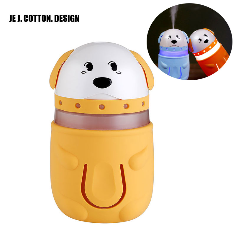 Cute Dog Ultrasonic Humidifier USB Air Humidificador with LED Lamp Mist Maker Fogger Aroma Essential Oil Diffuser Home Car 165ml 7 color light air humidifier for home mist maker fogger with aroma lamp led himidifiers aroma oil diffuser festival gift dc24v