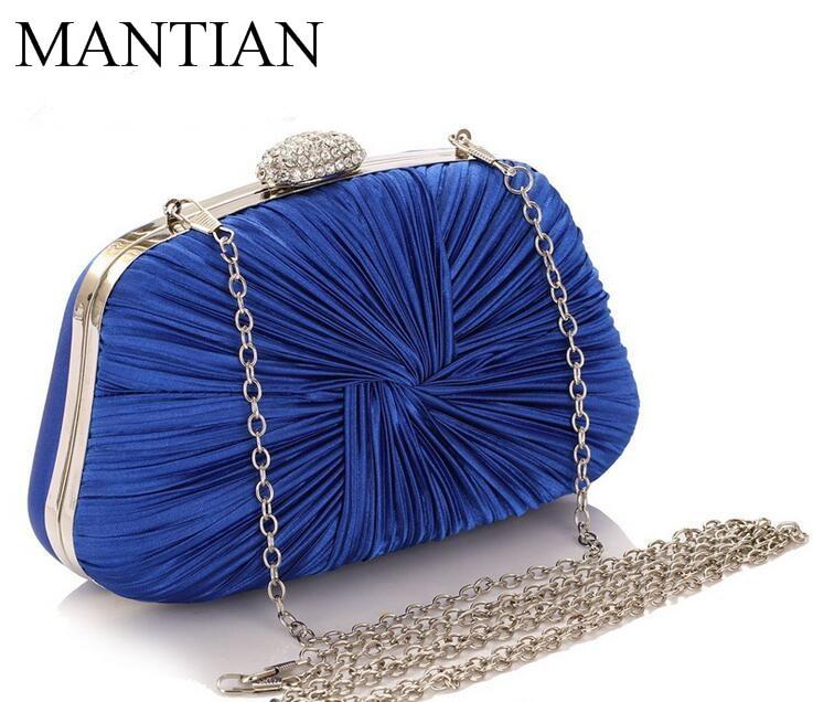Nueva cáscara de diamantes bolsos de noche Acanalada bolsa de embrague bolso de