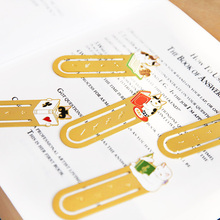 Cute Cat Family Paper Bookmark Vintage Metal Book Creative Gift For Kids Japanese Stationery Office & School Supplies