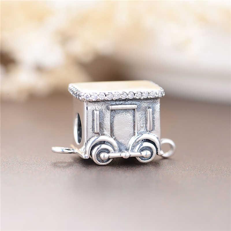 Новое поступление, Шарм из стерлингового серебра 925 пробы с рождественским шлейфом, европейский бренд, оригинальный браслет, подвеска, изготовление ювелирных украшений