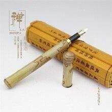 Naturalny motyl bambusowy wysokiej jakości długopis bohater pióro bambusowy długopis signature wieczne pióro
