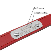 fd1a3e7f9552 Leather Personalized Dog Collars Custom Cat Pet Name ID Collar Free  Engraving For Small Medium Dogs