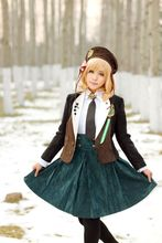 Anime Amnesia Heroine Cosplay top + capa + falda + sombrero