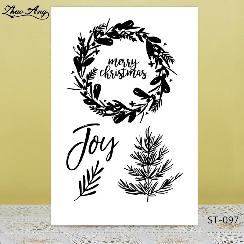 ZhuoAng Christmas Joy Clear Stamps/Seal for DIY Scrapbooking Photo Album Card Making Decoration Supply