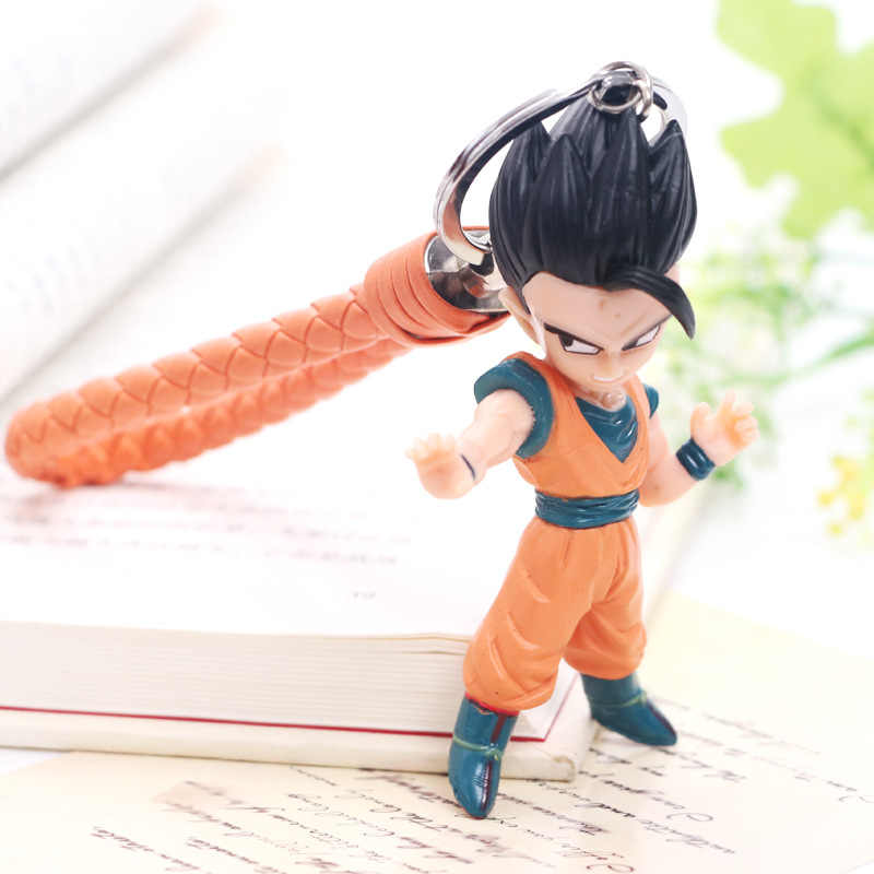 New Dragon Ball Z Son Goku Vegeta Trunks keychain Anime Figuras de Ação Modelo Coleção Dos Desenhos Animados Pingente Spielzeug Brinquedo