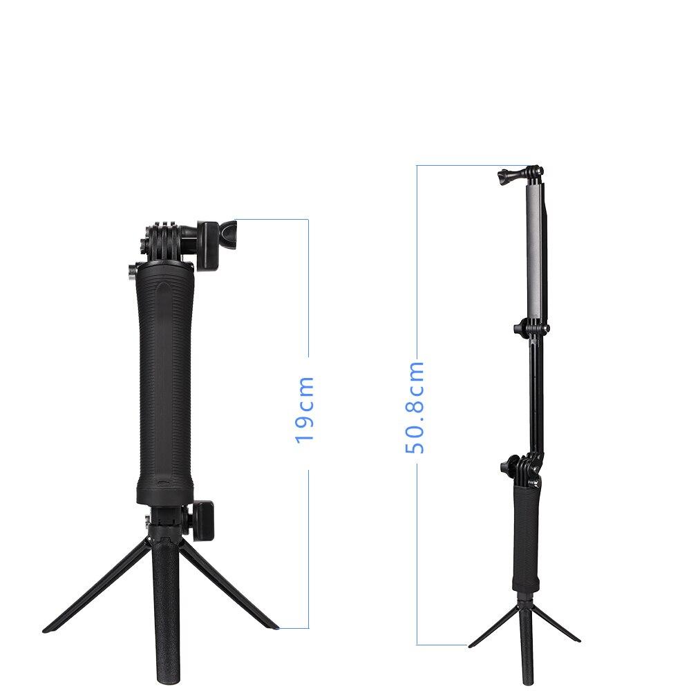 Гоу про 3 сторону рукоятки штатив моно-стручок Selfie для Gopro7 6 5 4 3 2 SJ4000 камер SJ8Pro 4К Йи Джи Осмо действий камеры аксессуары