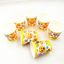 10pcs/lot paper cup Emoji Smile Cry Kids Birthday party supply event supplies baby shower Decoration favors