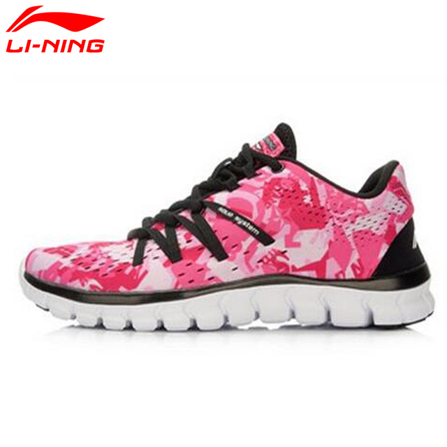 Li-Ning Women's Cushion Breathable Light Sneaker Outdoor Running Shoes For Women AFHL012 YXX014
