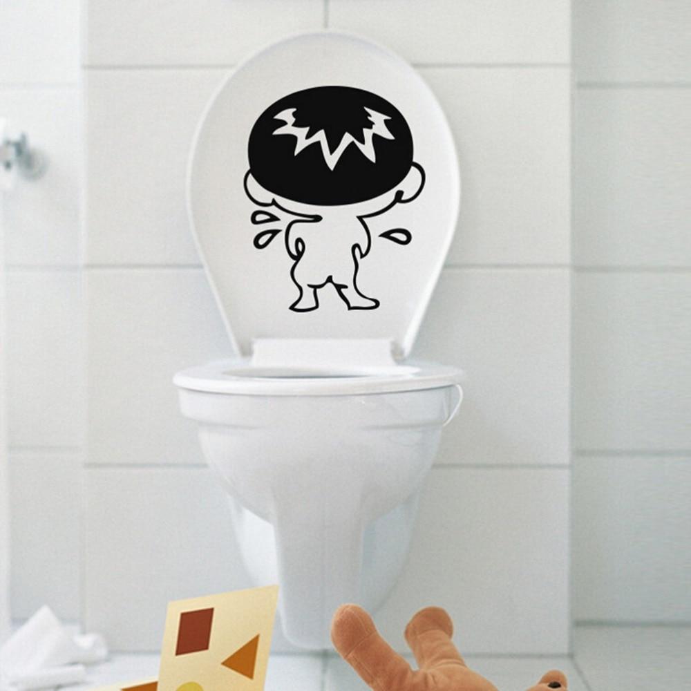 Eshylala Wohnkultur Bad Boy Tür Wandaufkleber Lustige Toilette