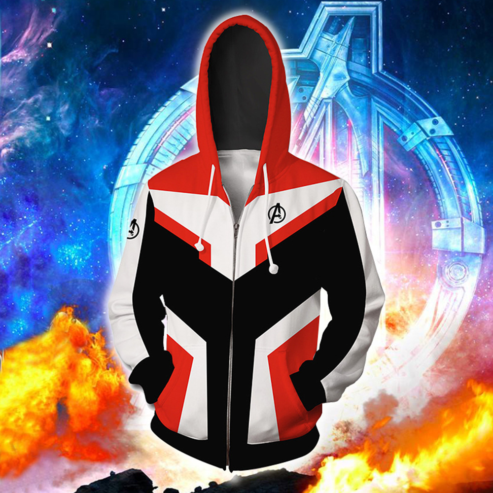 Avengers Endgame Cosplay Costumes Quantum Realm Casual Sweatshirt Hoodie Jacket Advanced Tech Hooded