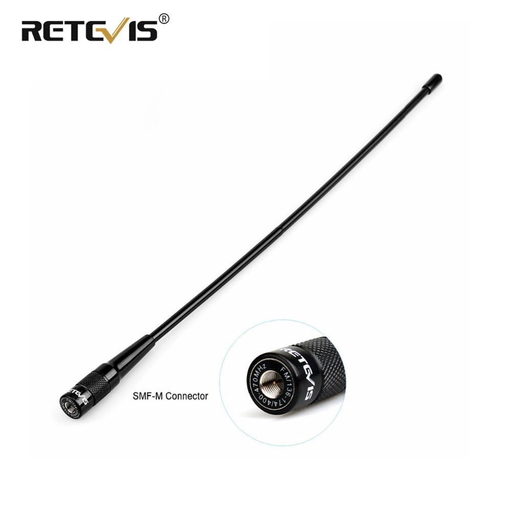 Antenne mâle RHD-771 SMA-M à chape 37.5cm VHF UHF antenne talkie-walkie pour Yaesu VX-3R VX-5R chape RT1 RT3S RT3 RT81 pour TYT