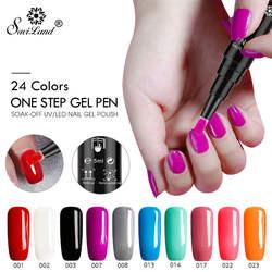 Saviland 3 в 1 один шаг ногтей Гель-лак для ногтей Pen длительный Светодиодный УФ лампа лак Лаки без База Top Coat ногтей гель