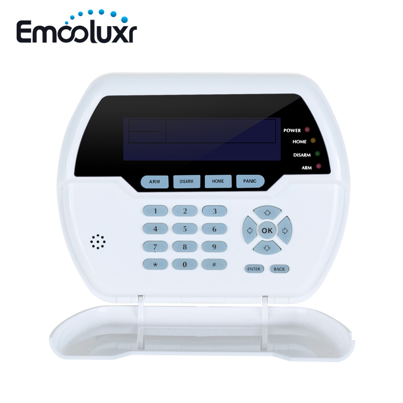 433MHz LCD Keypad PB-502R Nice Design Two-Way Password Keypad Built-in Rechargeable Battery or Charge Through USB Cable pb 502r nice design 868mhz two way keypad with lcd backlight remote arm disarm 868mhz alarme maison