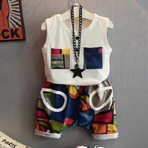 Retail 2017 Niños del verano ropa niños que arropan los niños y niñas de ocio ju
