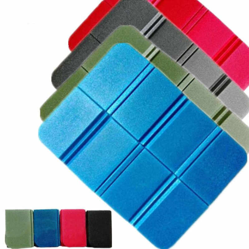 New XPE Folder Camping Mat Folding Portable Small Cushion Moisture-Proof Waterproof Prevent Dirty Picnic Mat Beach Pad 8 Colors
