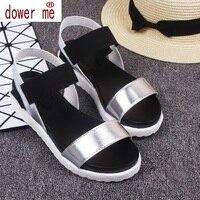 Hot Sale Women Sandals Women Summer Shoes Peep Toe Flat Shoes Roman Sandals Mujer Sandalias Ladies