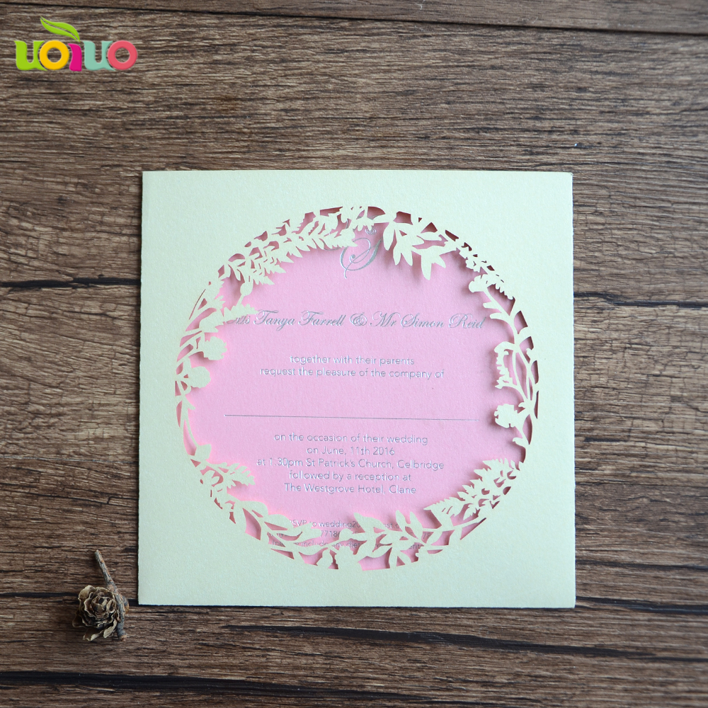 Simple Laser Cut Circle Leaves Wedding Invitation Card Cheap Price Lace Wedding Greeting Cards Design Cards Invitations Aliexpress