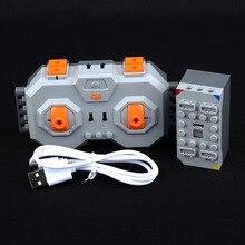 Литиевая батарея (перезаряжаемая) + 4 пульта дистанционного управления литиевая батарея может подключить 4 PF 8878-1 54599 MOC LegoINGlys строительные блоки