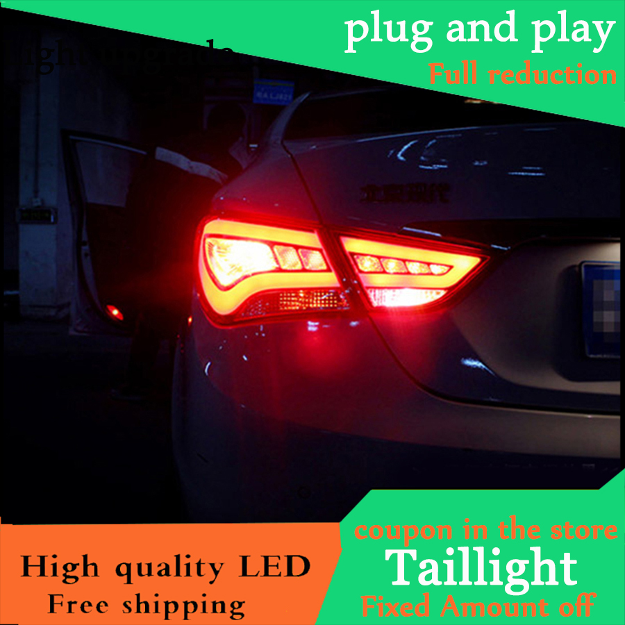 Car Styling Case For Hyundai Sonata 8th 2011 2015 Taillights LED Tail Light LED Rear Lamp